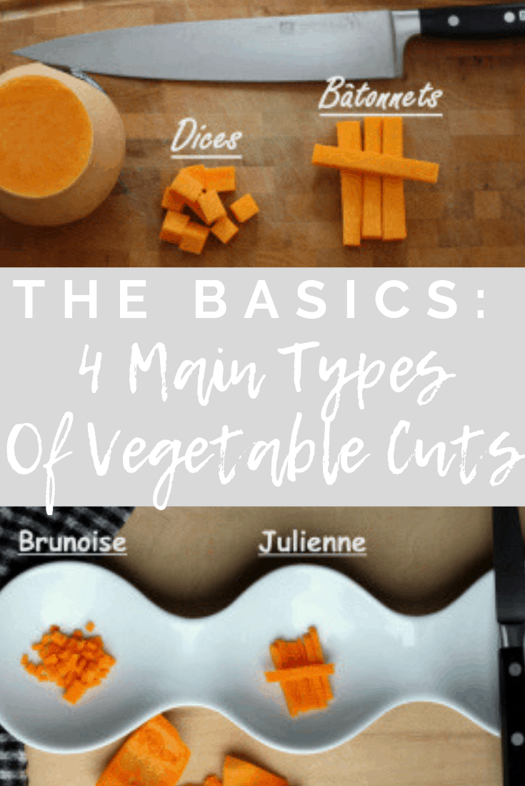The basics: 4 main types of vegetables cuts