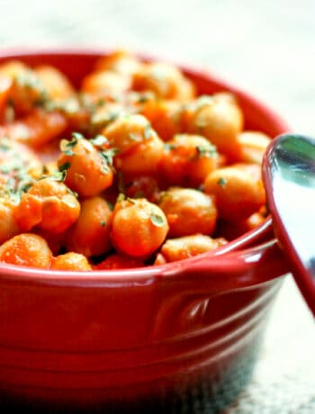 Individual serving of garbanzos