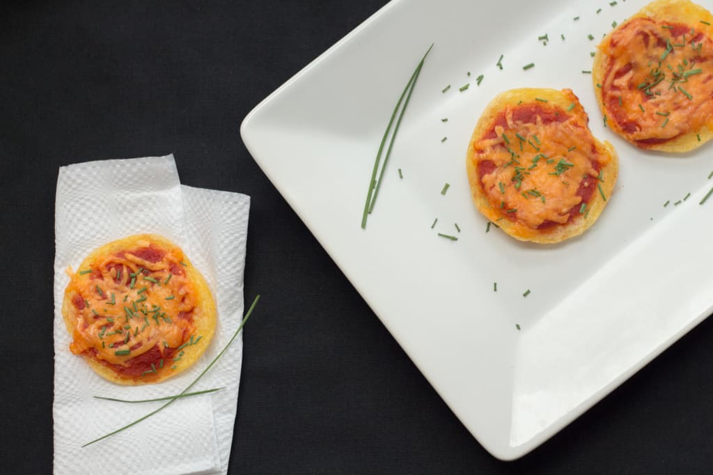 Mini polenta pizza