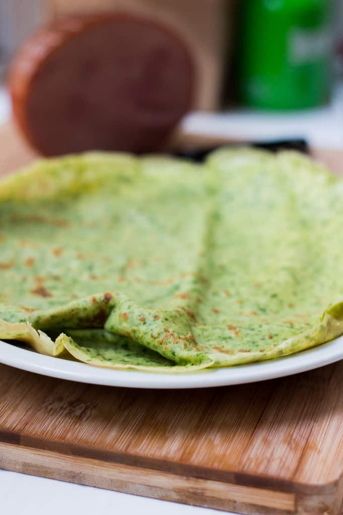 Spinach French crêpe