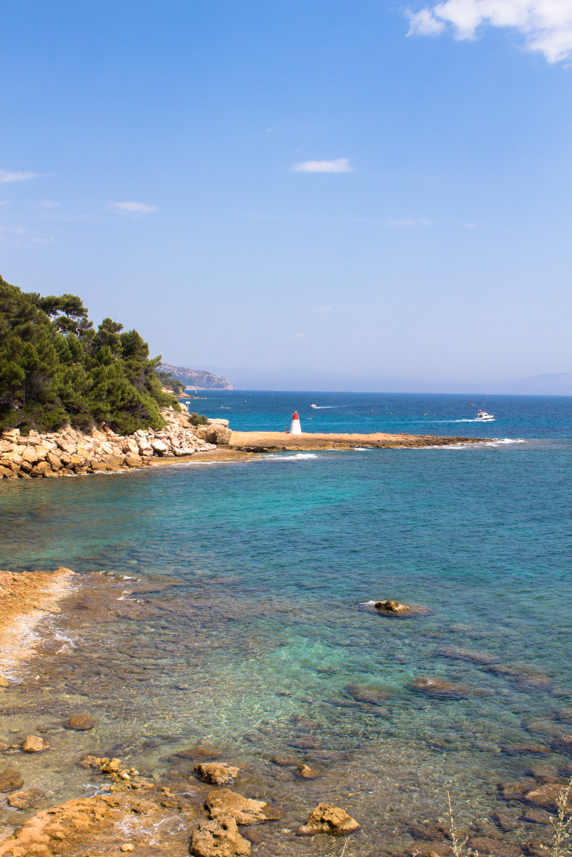 Landscape of Mediterranean sea, beautiful bleue.