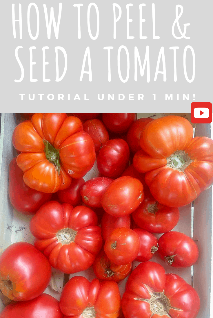 [How to] peel & seed a tomato