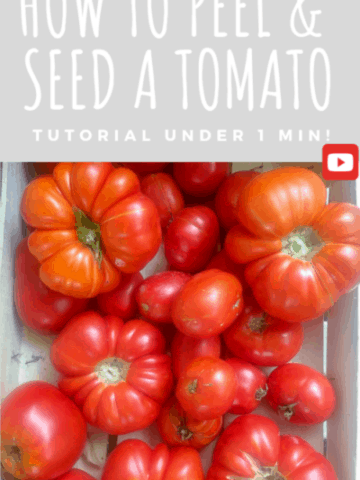 How to peel a tomato: Lot of organic tomatoes