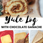 Close of of the chocolate yule log