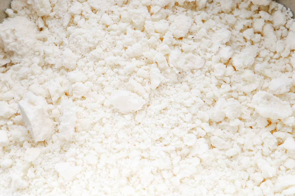 close up view of crumbles