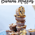 Side view of a stack of almond flour bananamuffins